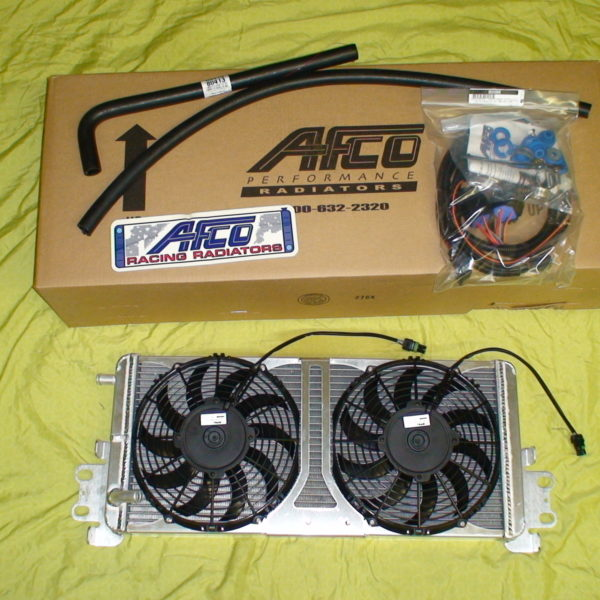 Afco double pass heat exchanger / intercooler with fans 07-12 Shelby GT500