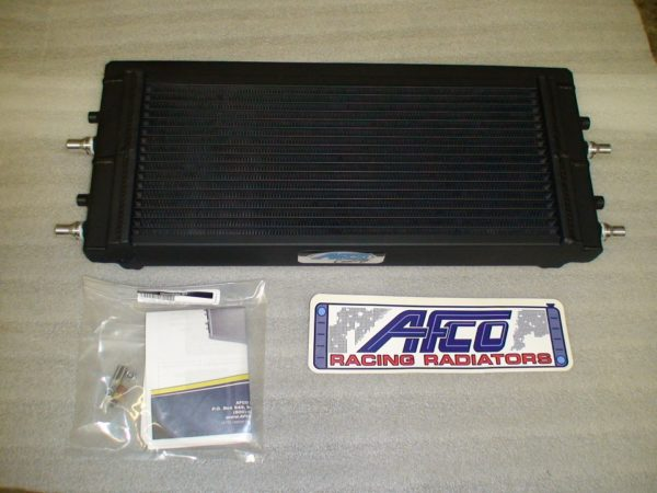 AFCO heat exchanger double pass intercooler with black thermal coating  supercharged 15-19 Corvette C7 Z06